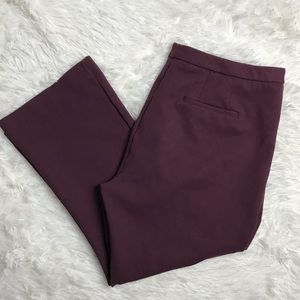 Max and Mia burgundy cropped slacks pants